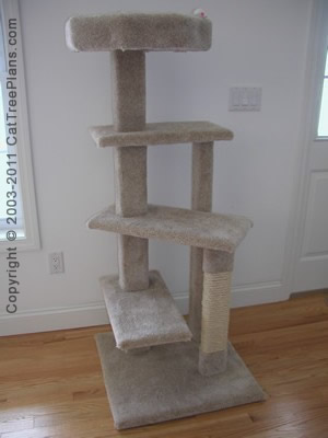 Cat tree plans cat tree plans make your own cat for Cat tree blueprints