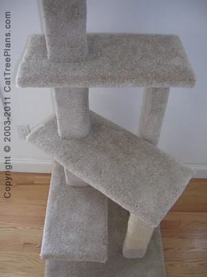 Cat tree plan 5 cat tree plans for Diy cat tree pvc pipe