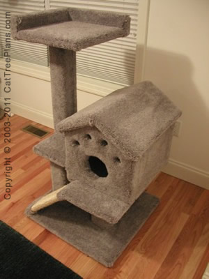 Cat tree plans cat tree plans make your own cat for Do it yourself cat condo