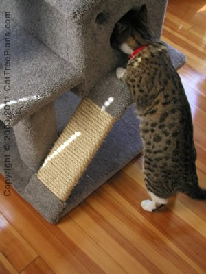 Cat tree plan 1 cat tree plans for Easy diy cat furniture