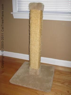 Cat tree plan bonus 2 cat tree plans for Build your own cat scratch tower