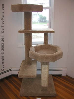 Cat tree plans make your own cat furniture diy cat for Cat tree blueprints