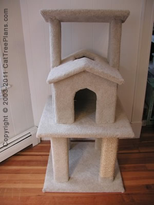 Cat tree plan 7 cat house plans make a cat condo cat for Cat tree blueprints