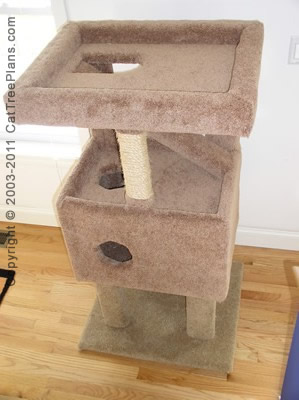 Cat tree plan 8 cat tree plans for Cat climber plans