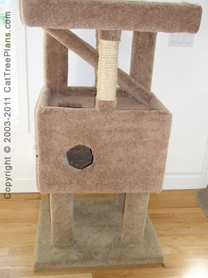 Cat tree plan 8 cat tree plans for Build your own cat scratch tower