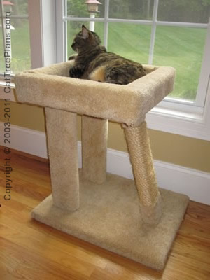 cat tree plan Cat Window Bed Plans Plan 9 Detail 1