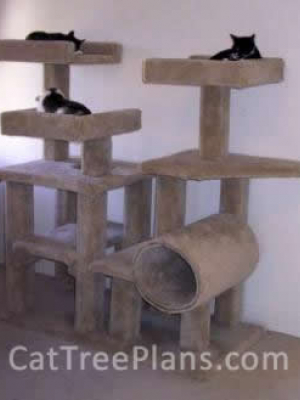 how to make a cat tree Cat Tree Plans Customer 001