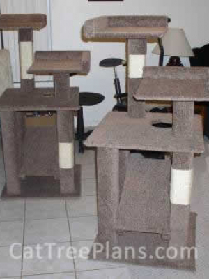 how to make a cat tree Cat Tree Plans Customer 007