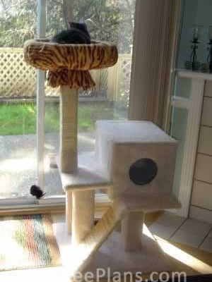 how to make a cat tree Cat Tree Plans Customer 027