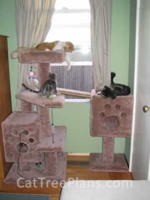 how to make a cat tree Cat Tree Plans Customer 033