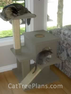 how to make a cat tree Cat Tree Plans Customer 040