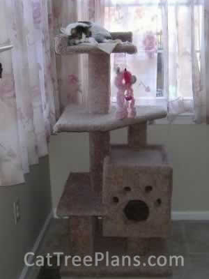 how to make a cat tree Cat Tree Plans Customer 041