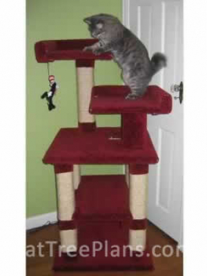 how to make a cat tree Cat Tree Plans Customer 042