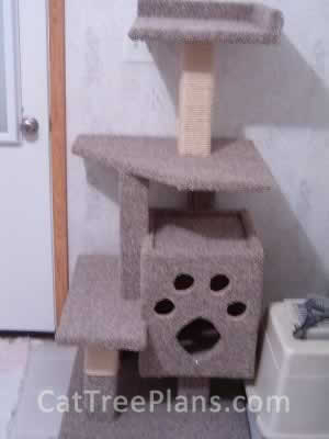 how to make a cat tree Cat Tree Plans Customer 043