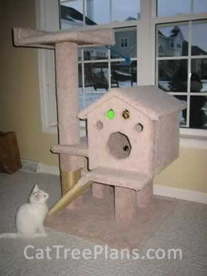 how to make a cat tree Cat Tree Plans Customer 046