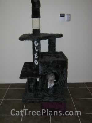 how to make a cat tree Cat Tree Plans Customer 047