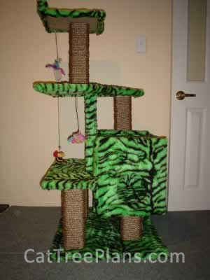 how to make a cat tree Cat Tree Plans Customer 051