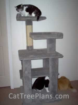 how to make a cat tree Cat Tree Plans Customer 053