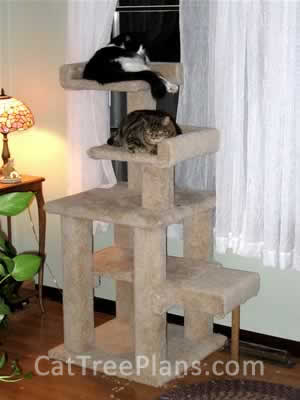 how to make a cat tree Cat Tree Plans Customer 065