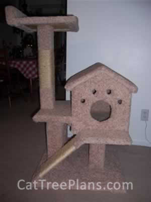 how to make a cat tree Cat Tree Plans Customer 070