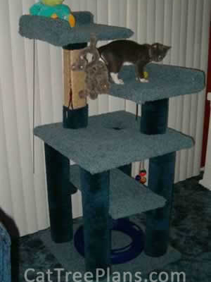 how to make a cat tree Cat Tree Plans Customer 076