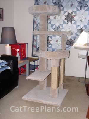 how to make a cat tree Cat Tree Plans Customer 078