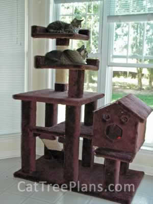 how to make a cat tree Cat Tree Plans Customer 080