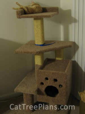 how to make a cat tree Cat Tree Plans Customer 082