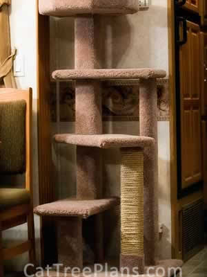 how to make a cat tree Cat Tree Plans Customer 084