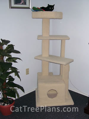 how to make a cat tree Cat Tree Plans Customer 089