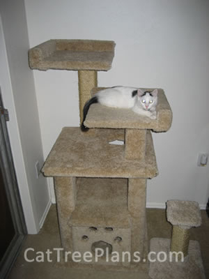 how to make a cat tree Cat Tree Plans Customer 091