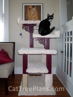 how to make a cat tree Cat Tree Plans Customer 093