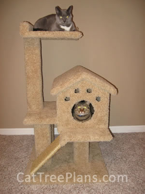 how to make a cat tree Cat Tree Plans Customer 094