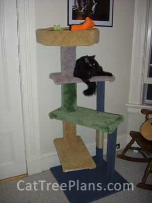 how to make a cat tree Cat Tree Plans Customer 099