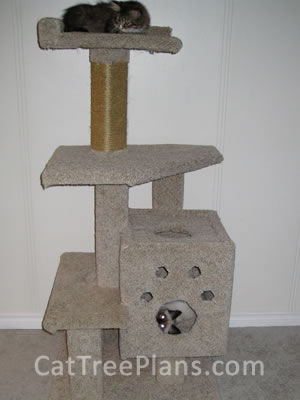 how to make a cat tree Cat Tree Plans Customer 103