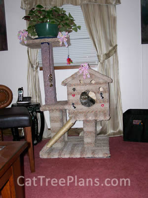 how to make a cat tree Cat Tree Plans Customer 107