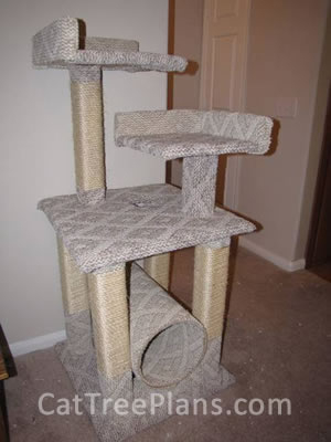 how to make a cat tree Cat Tree Plans Customer 110