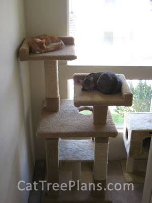 how to make a cat tree Cat Tree Plans Customer 111