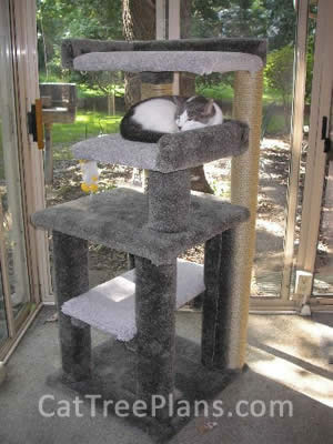 how to make a cat tree Cat Tree Plans Customer 112