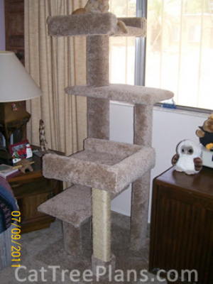 how to make a cat tree Cat Tree Plans Customer 118