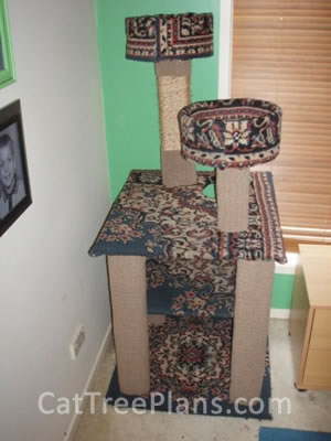 how to make a cat tree Cat Tree Plans Customer 129