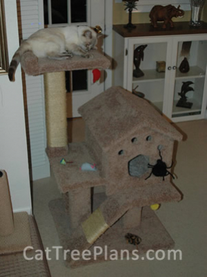 how to make a cat tree Cat Tree Plans Customer 131