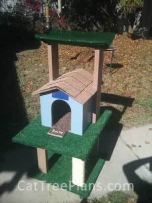 how to make a cat tree Cat Tree Plans Customer 140