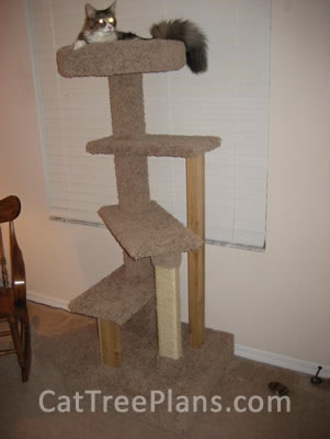 Customers cat trees cat tree plans for Cat climber plans