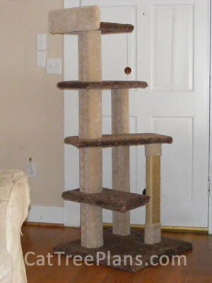 Customers cat trees cat tree plans for Cat tree blueprints